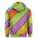 Colorful Easter Ribbon Background Men s Zipper Hoodie View2