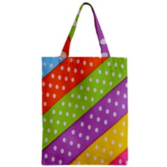 Colorful Easter Ribbon Background Zipper Classic Tote Bag