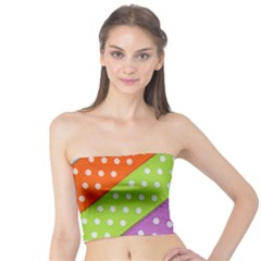 Colorful Easter Ribbon Background Tube Top