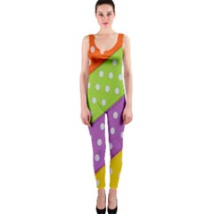 Colorful Easter Ribbon Background Onepiece Catsuit