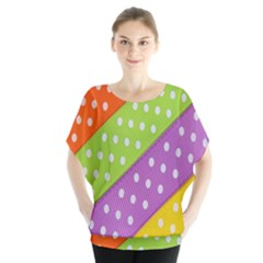 Colorful Easter Ribbon Background Blouse