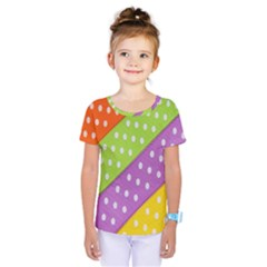 Colorful Easter Ribbon Background Kids  One Piece Tee