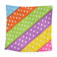 Colorful Easter Ribbon Background Square Tapestry (large)