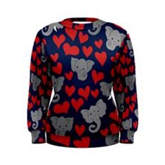 Elephants Love Women s Sweatshirt