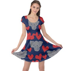 Elephants Love Cap Sleeve Dresses