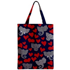 Elephants Love Zipper Classic Tote Bag