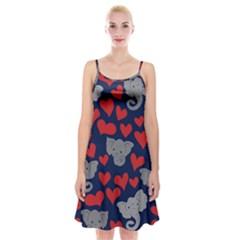 Elephants Love Spaghetti Strap Velvet Dress