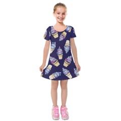 Ice Cream Dream Kids  Short Sleeve Velvet Dress