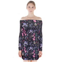 Wildflowers I Long Sleeve Off Shoulder Dress
