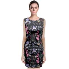 Wildflowers I Sleeveless Velvet Midi Dress