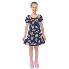Shells Kids  Short Sleeve Velvet Dress