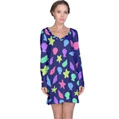 Shells Long Sleeve Nightdress