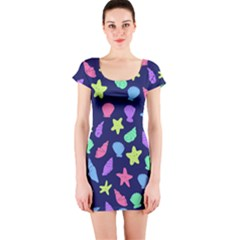 Shells Short Sleeve Bodycon Dress