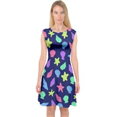 Shells Capsleeve Midi Dress
