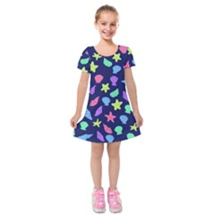 Shells Kids  Short Sleeve Velvet Dress