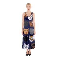 Cat  Sleeveless Maxi Dress