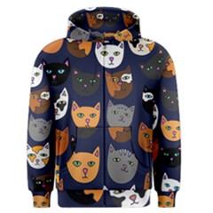 Cat  Men s Zipper Hoodie