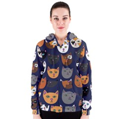 Cat  Women s Zipper Hoodie