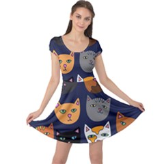 Cat  Cap Sleeve Dresses