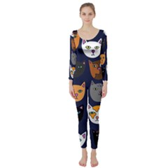 Cat  Long Sleeve Catsuit