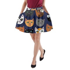 Cat  A-Line Pocket Skirt