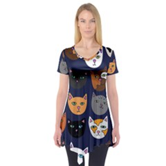 Cat  Short Sleeve Tunic