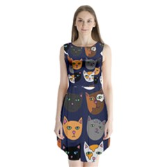 Cat  Sleeveless Chiffon Dress