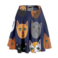 Cat  High Waist Skirt