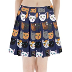 Cat  Pleated Mini Skirt
