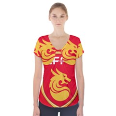 Hebei China Fortune F.C. Short Sleeve Front Detail Top