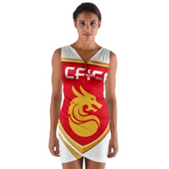 Hebei China Fortune F.C. Wrap Front Bodycon Dress