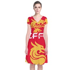 Hebei China Fortune F C  Short Sleeve Front Wrap Dress