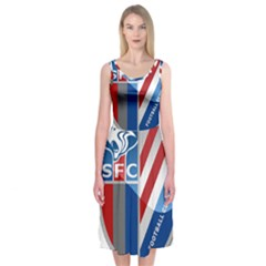 Shanghai Greenland Shenhua F.C. Midi Sleeveless Dress