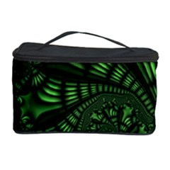 Fractal Drawing Green Spirals Cosmetic Storage Case