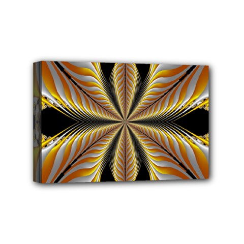 Fractal Yellow Butterfly In 3d Glass Frame Mini Canvas 6  X 4