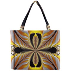 Fractal Yellow Butterfly In 3d Glass Frame Mini Tote Bag
