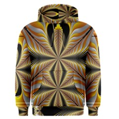 Fractal Yellow Butterfly In 3d Glass Frame Men s Pullover Hoodie