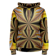 Fractal Yellow Butterfly In 3d Glass Frame Women s Pullover Hoodie