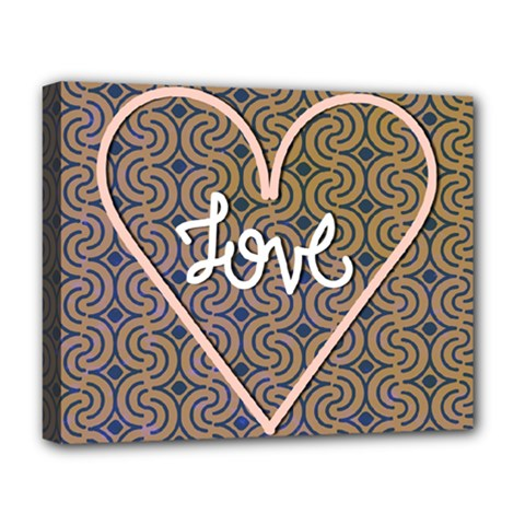 I Love You Love Background Deluxe Canvas 20  X 16