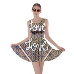 I Love You Love Background Skater Dress