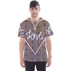 I Love You Love Background Men s Sport Mesh Tee