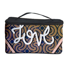 I Love You Love Background Cosmetic Storage Case