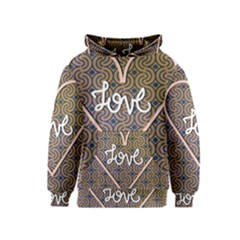I Love You Love Background Kids  Pullover Hoodie