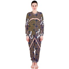 I Love You Love Background Onepiece Jumpsuit (ladies)