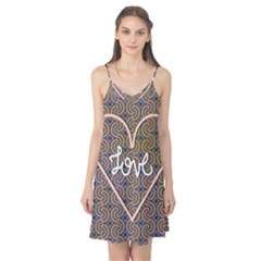 I Love You Love Background Camis Nightgown