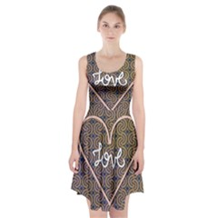 I Love You Love Background Racerback Midi Dress