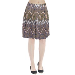 I Love You Love Background Pleated Skirt