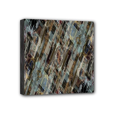 Abstract Chinese Background Created From Building Kaleidoscope Mini Canvas 4  X 4