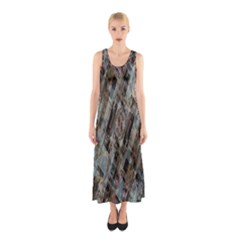 Abstract Chinese Background Created From Building Kaleidoscope Sleeveless Maxi Dress