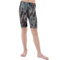 Abstract Chinese Background Created From Building Kaleidoscope Kids  Mid Length Swim Shorts